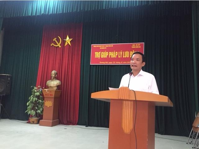 Hội LHPN phường Dương Nội phối hợp tổ chức tuyên truyền phổ biến pháp luật và trợ giúp pháp lý lưu động 2018