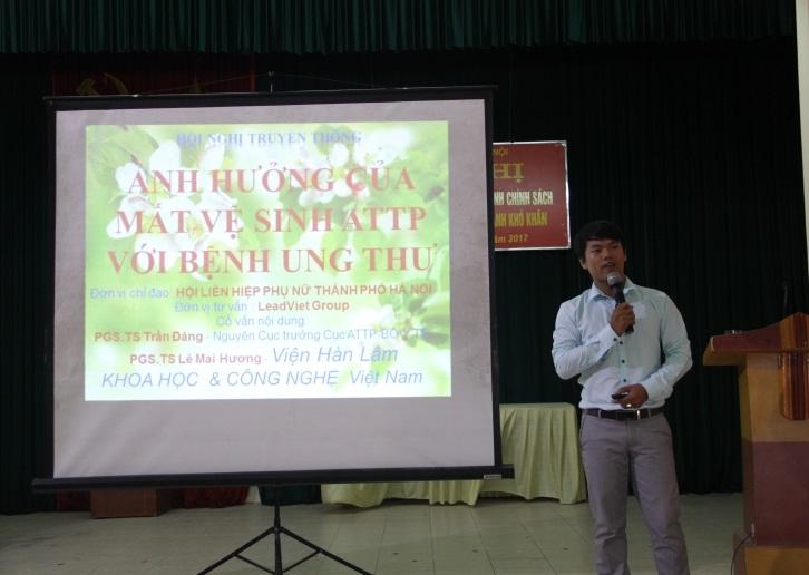 Hội LHPN phường Dương Nội  truyền thông về ảnh hưởng của mất vệ sinh ATTP với bệnh ung thư
