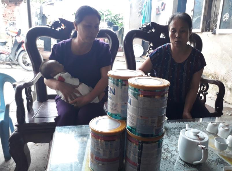 Hội LHPN phường Đồng Mai thăm hỗ trợ gia đình hội viên khó khăn