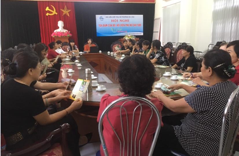 """Hội nghị tọa đàm """"Sống – vui – khỏe –đẹp"""" cho phụ nữ cao tuổi phường Hà Cầu"""