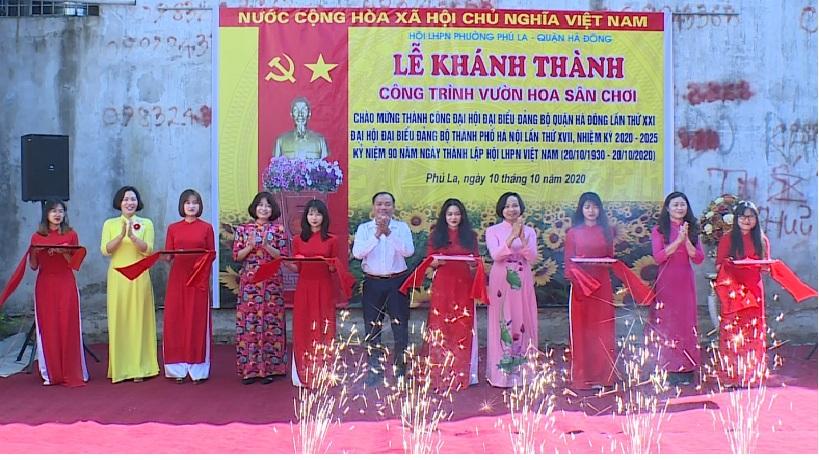 """Khánh thành công trình """" vườn hoa – sân chơi"""" tại phường Phú La"""