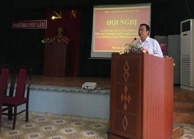 Hội nghị tư vấn pháp luật cho phụ nữ phường Phú Lãm