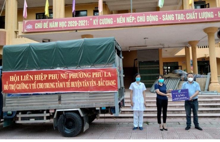 Hội LHPN phường Phú La – chung tay phòng chống dịch Covid -19 tại Bắc Giang