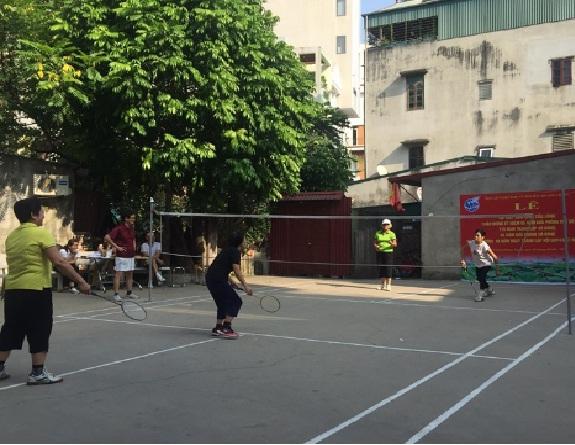 Hội LHPN phường Quang Trung tổ chức Lễ ra mắt sân chơi cầu lông  tại TDP 15