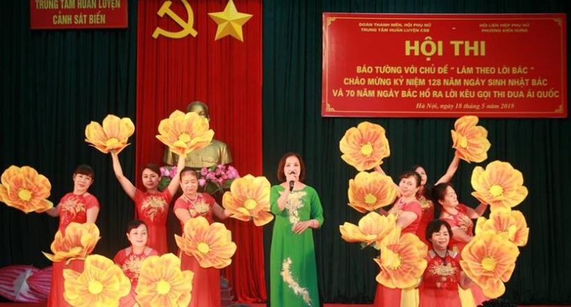 Hội LHPN phường Kiến Hưng tổ chức Hội thi báo tường Làm theo lời Bác