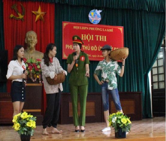 Hội LHPN phường La Khê tổ chức hội thi Phụ nữ Thủ đô ứng xử đẹp