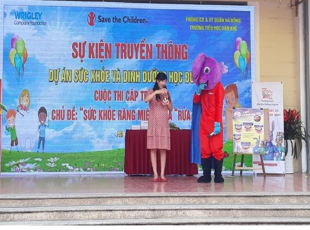 Truyền thông dự án sức khỏe và dinh dưỡng học đường tại trường Tiểu học La Khê, quận Hà Đông