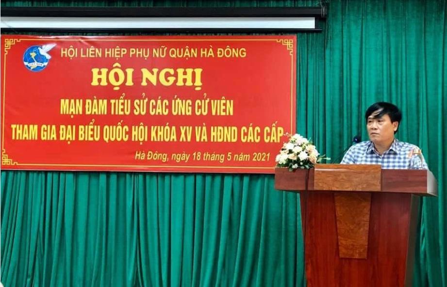 Hội LHPN quận Hà Đông tổ chức mạn đàm tiểu sử ứng cử viên đại biểu Quốc hội và HĐND các cấp