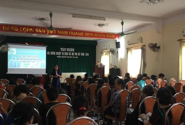 Hội LHPN phường Nguyễn Trãi tổ chức lớp tập huấn bồi dưỡng nghiệp vụ công tác Hội năm 2018