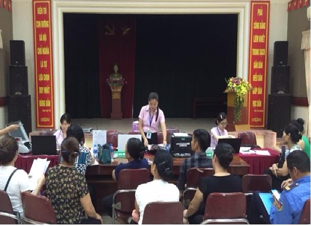 Hội nghị giao ban chương trình ủy thác cho vay giữa Hội LHPN, Hội CCB, Đoàn TN phường Dương Nội với Ngân hàng chính sách xã hội Quận Hà Đông