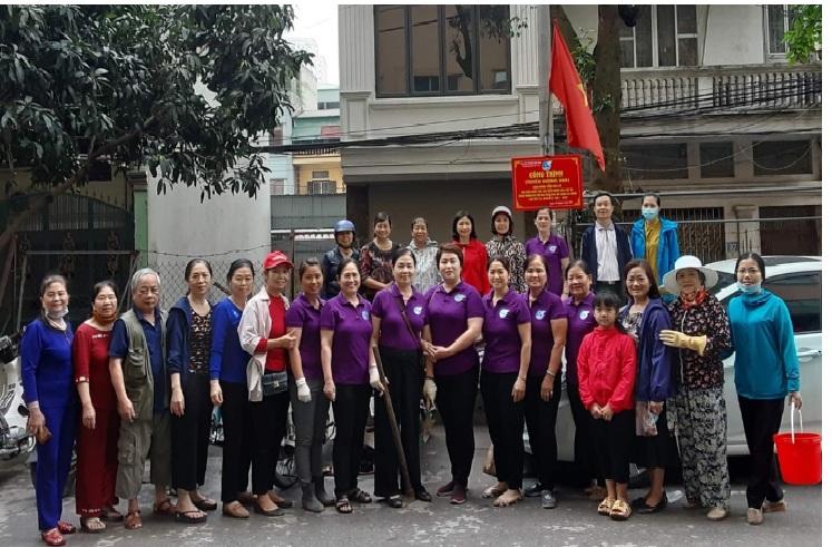 Phụ nữ Kiến Hưng với phong trào chung tay xây dựng văn minh đô thị