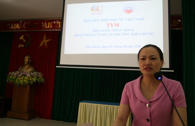 Hội LHPN phường Kiến Hưng triển khai hoạt động TYM trên địa bàn phường
