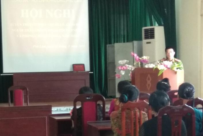 Hội nghị tuyên truyền NQLT 01 giữa Bộ công an - Hội LHPN Việt Nam  về Quản lý,giáo dục con em trong gia đình không phạm tội – TNXH và phòng chống đạo lạ