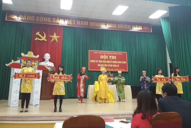 Hội LHPN phường Phú Lương phối hợp tổ chức Hội thi chung tay thực hiện năm kỷ cương hành chính, nâng cao văn hóa  ứng xử nơi công sở năm 2017