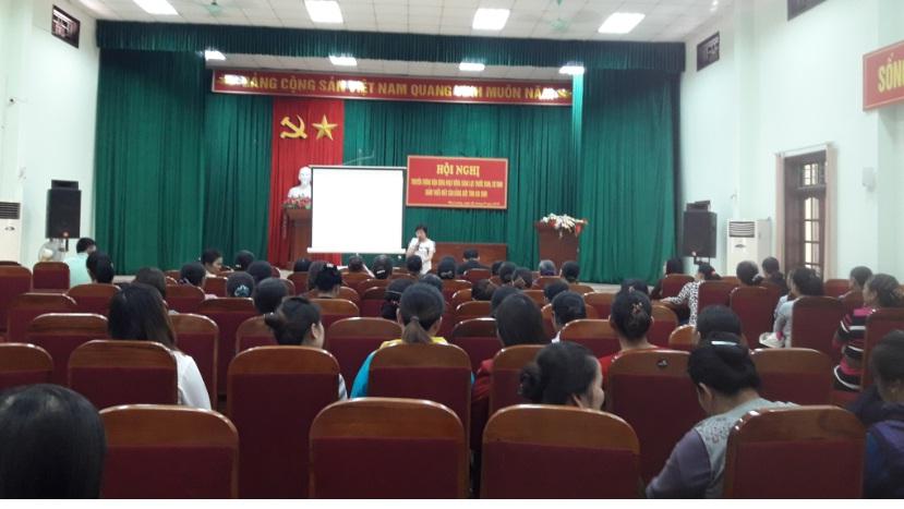 Hội LHPN phường Phú Lương tổ chức hội nghị truyền thông tuyên truyền vận động sàng lọc trước sinh và sơ sinh, truyền thông mất cân bằng giới tính khi sinh