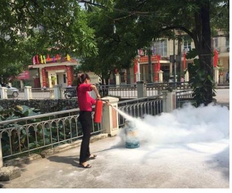 Hội LHPN phường Phú Lãm  phối hợp tổ chức tuyên truyền công tác phòng cháy, chữa cháy