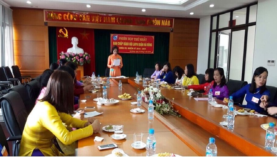 Hội nghị BCH Hội LHPN quận Hà Đông khóa XX phiên thứ nhất