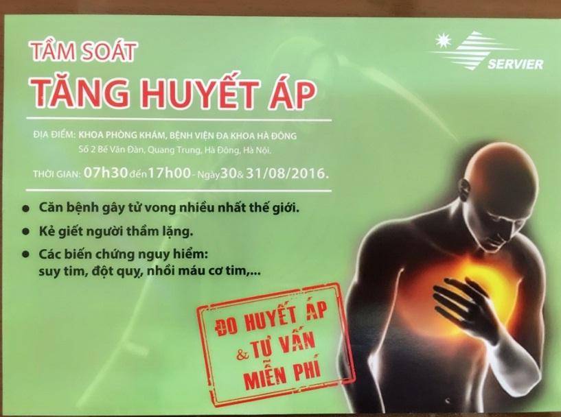 Hội LHPN quận Hà Đông phối hợp Bệnh viện Đa khoa Hà Đông tổ chức chương trình Tầm soát bệnh nhân Tăng huyết áp