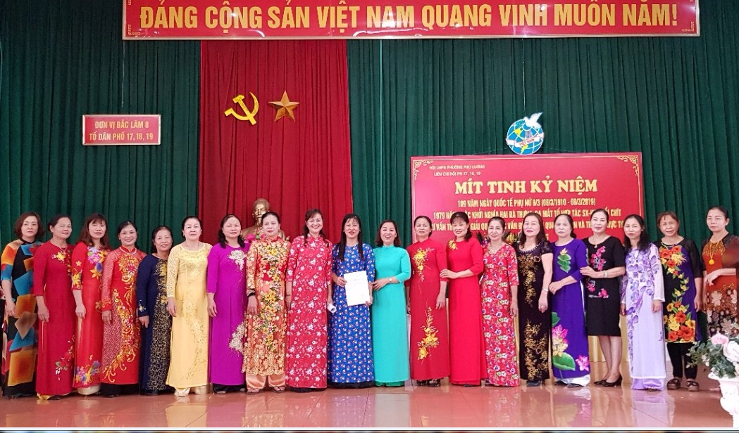 Ra mắt 02 tổ tư vấn tham gia giải quyết một số vấn đề liên quan đến  phụ nữ và trẻ em năm 2019 tại phường Phú Lãm và phường Phú Lương
