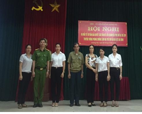 Ra mắt Tổ tư vấn tham gia giải quyết các vấn đề xã hội liên quan đến phụ nữ và trẻ em phường Dương Nội