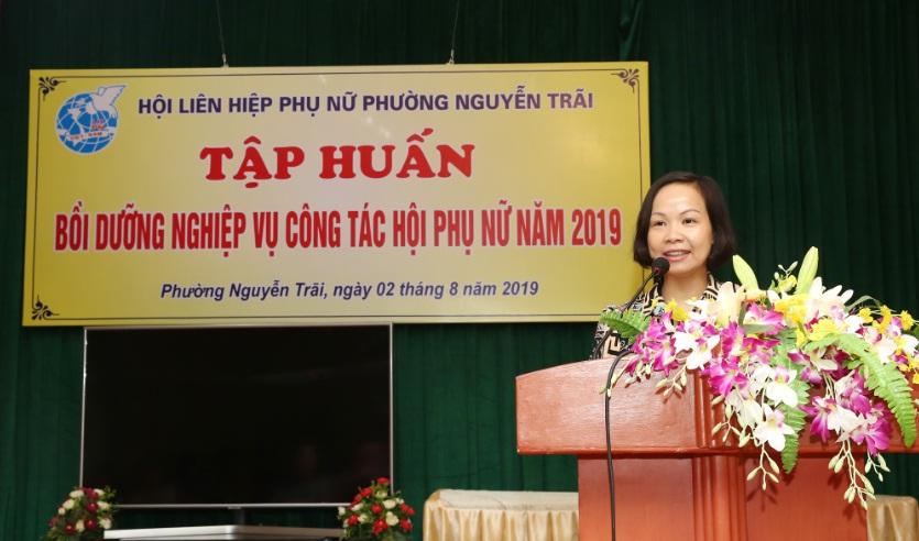Hội LHPN Phường Nguyễn Trãi tổ chức tập huấn nghiệp vụ công tác Hội cho hơn 100 cán bộ chi, tổ phụ nữ