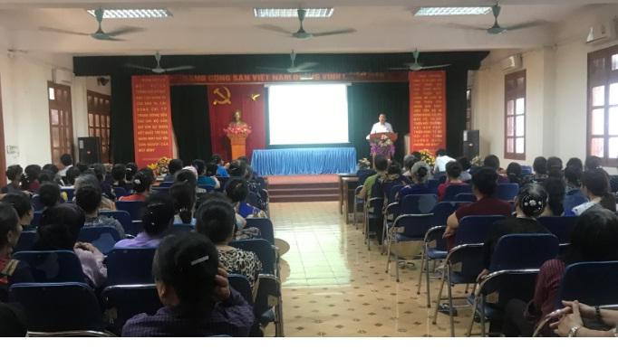 Hội LHPN phường Yên Nghĩa tổ chức hội nghị tư vấn pháp luật năm 2018
